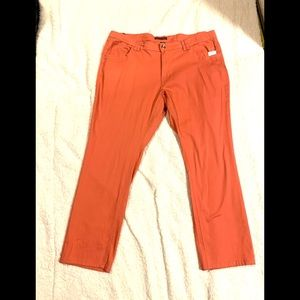 NWT Angels Jeans Orange Straight Leg Jeans 24W